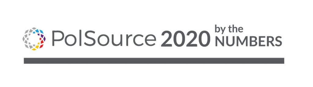 polsource 2020 by the numbers banner